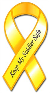 Keep My Soldier Safe Ribbon Car Magnet