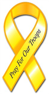 "Pray for Our Troops Ribbon Car Magnet - 4"" x 8"""
