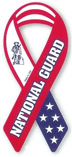 National Guard Military Ribbon Car Magnet