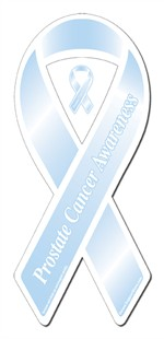 Prostate Cancer Light Blue Ribbon Magnet