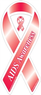 """AIDS Awareness"" Ribbon Magnet"