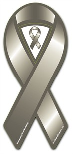 Grey Cause Awareness  Ribbon Magnet