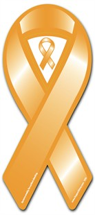 Orange Cause Awareness  Ribbon Magnet