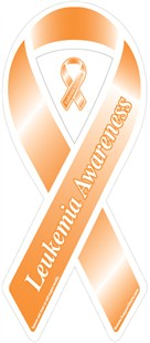 &quot;Leukemia Awareness&quot; Orange Ribbon Magnet