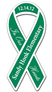 Sandy Hook Memorial Ribbon Car Magnet
