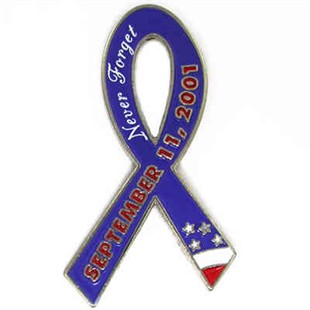 September 11th Ribbon Lapel Pin