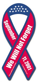 September 11th Ribbon Car Magnet