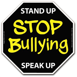 &quot;Stand Up - Speak Up - Stop Bullying&quot;  Magnet - 5&quot;