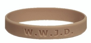 Christian Bracelet,  What Would Jesus Do Wristband -  Youth 7&quot;