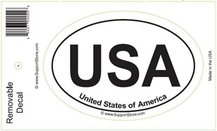 USA United States of America Oval Removable Decal