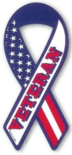 Veteran Military Ribbon Car Magnet