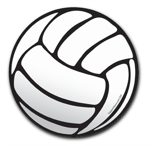 Volleyball Car Magnet - 6&quot; Round