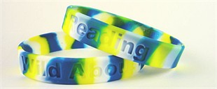 &quot;Wild About Reading&quot; Wristband - Tie-Dye - Youth 7&quot;