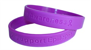 Support Epilepsy Awareness Purple Wristband - Youth 7&quot;