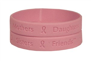&quot;Mothers Daughters Sisters Friends&quot; Rubber Bracelet Wristband - Adult 8&quot;